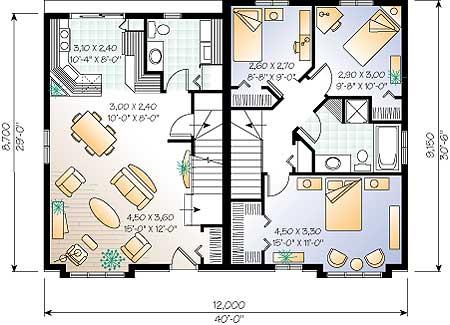 Проект дома w3004