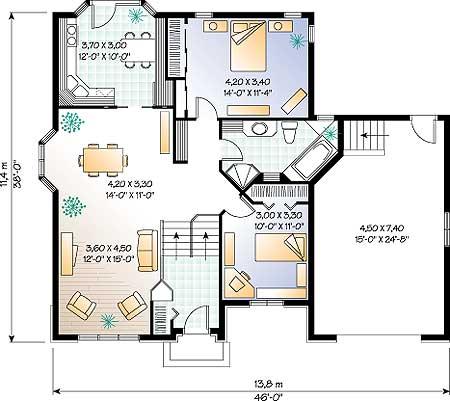 план этажа дома, коттеджа
